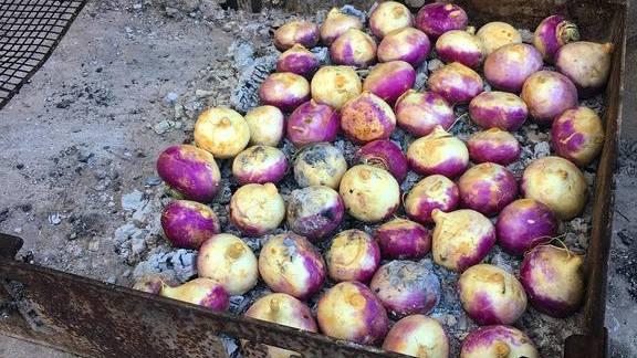 BBQ turnips at Husk Restaurant