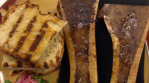 Smoked Cox Farms bone marrow at Lockeland Table