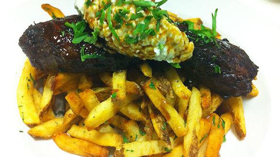 Steak frites at Franklin Cafe