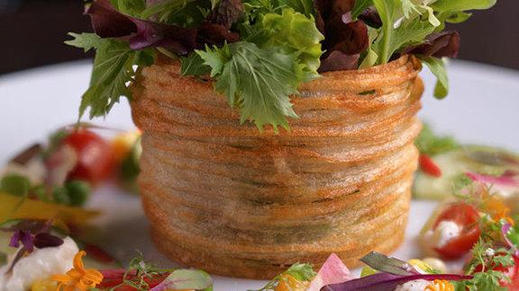 Chef William Kovel reviews Summer vegetable salad  at Deuxave
