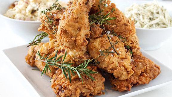 Fried chicken at ad hoc