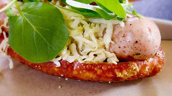 Sausage sandwich at Salumeria