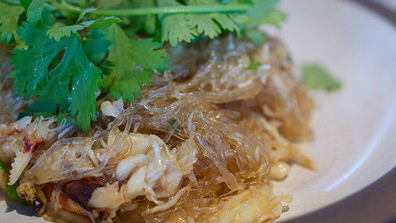 Cellophane & crab noodles at Out the Door