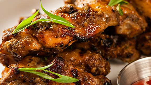 Jerk wings at Coconuts Caribbean Restaurant & Bar