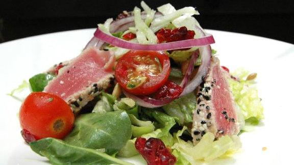 Seared ahi salad  at Fat Fish Cantina Grill