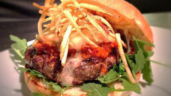 The Burger at Louie's Bar