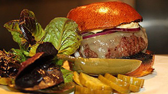 Chef Noah Sandoval reviews Grassfed burger at Rootstock