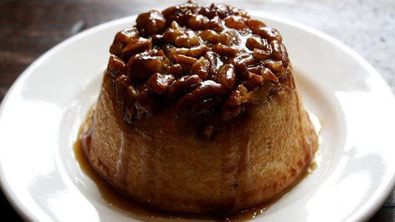 Warm brioche sticky bun at Birch & Barley
