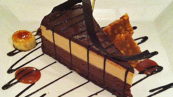 Chocolate peanut butter crunch cake at BlackSalt
