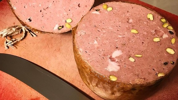 Chef Jason Bond reviews Veal mortadella at Bondir