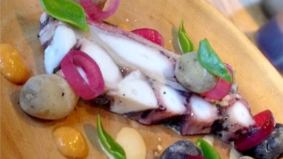 Chef Chad White reviews Octopus terrine at