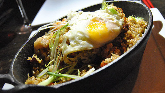 Chef Katherine Clapner reviews Duck fat fried rice at Chino Chinatown