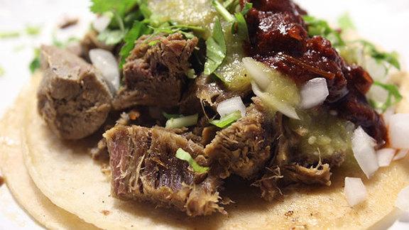 Chef Ken Frank reviews Lengua tacos at