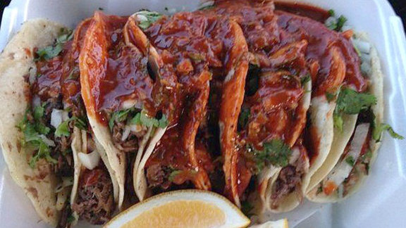 Chef Ken Frank reviews Steamed beef tacos (de cabeza) at