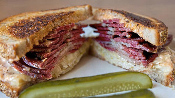 Reuben sandwich at Wise Sons Jewish Delicatessen