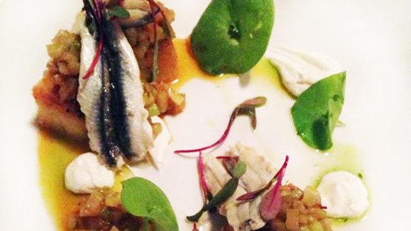 Chef Tony Ferrari reviews Marinated white anchovies at