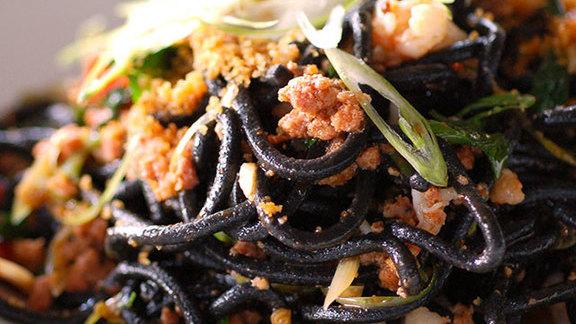 Black spaghetti at BoccaLupo
