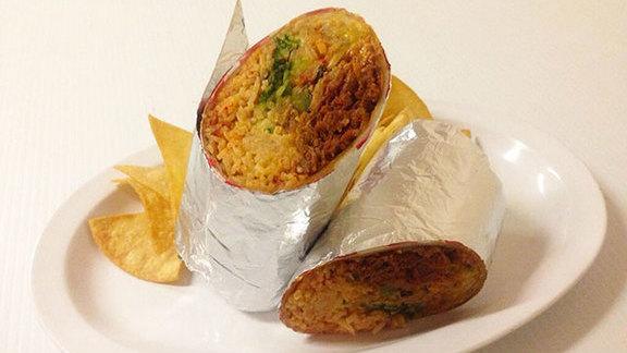 Chef Charlie Kleinman reviews Spicy pork kimchee burrito at