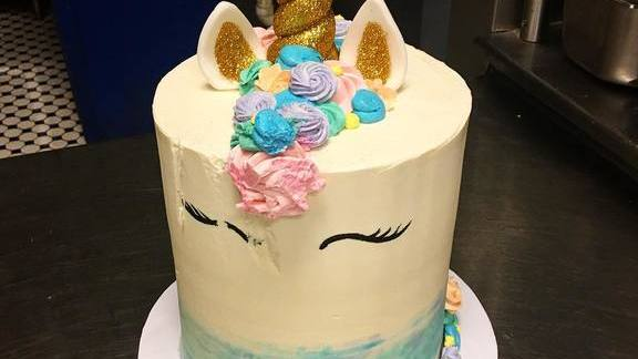 Unicorn cake at Buttercream Bakeshop