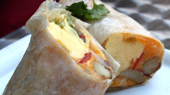 Classic Lula breakfast burrito at Lula Café