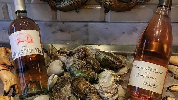 New world and old world rosé with oysters at The Hourly