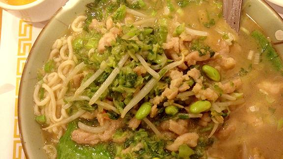 Pickled vegetable & shredded pork soup at Shanghai House