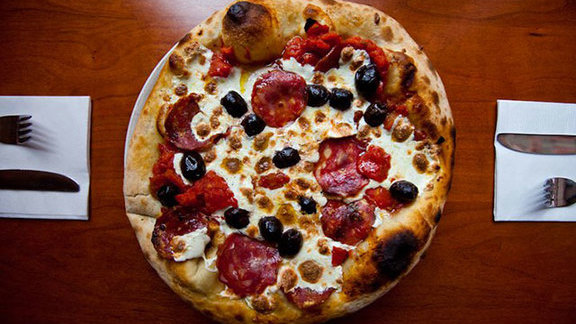 Atomica pizza at Pizzeria Paradiso