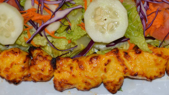 Chicken kabob at Rose Kabob Restaurant