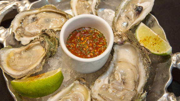 All you can eat Gulf oysters at Caracol