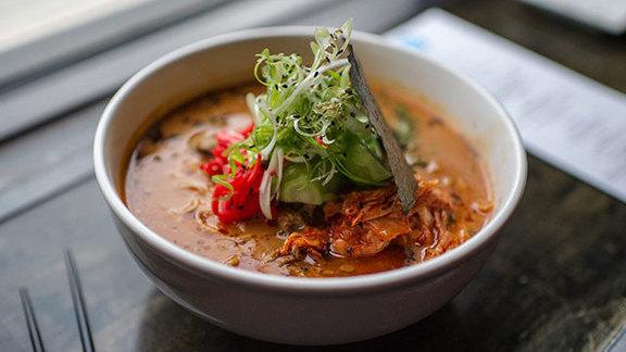 Kimchi ramen at Toki Underground