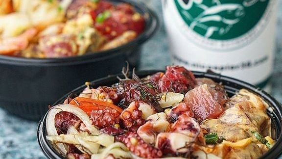 Poke Bowl Sundays with choice of fresh, wild caught fish at Nico's at Pier 38