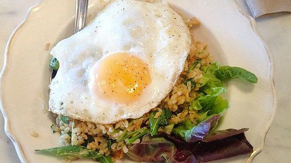 Crispy rice salad at Sqirl Kitchen