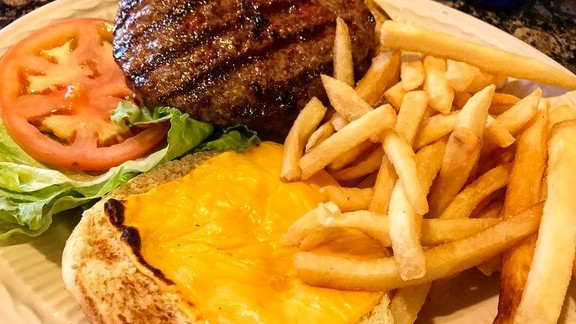 Deluxe cheeseburger  at Dobbs Diner