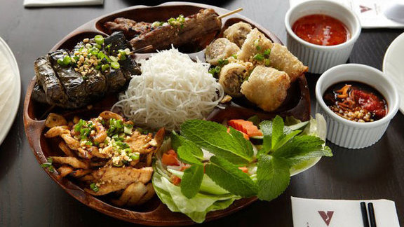 BBQ platter at Vietnam Cafe
