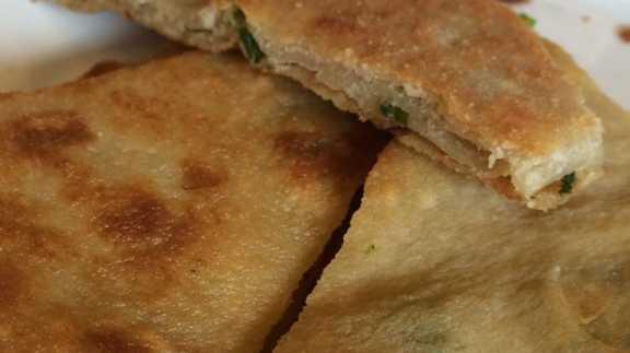 scallion pancake at Fu Fu Cafe