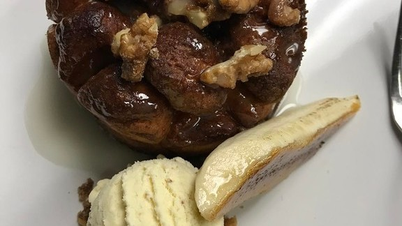 Monkey bread 2.0 with banana ice cream at George's At The Cove