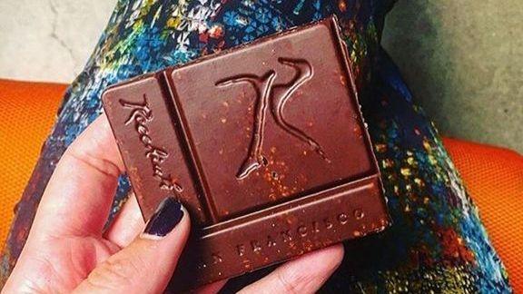 Chocolate with quinoa  at Recchiuti Confections