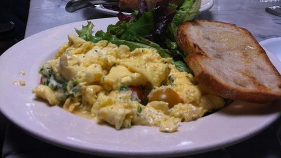 Soft Scrambled Eggs at Universal Cafe