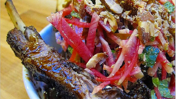 Chef Marisa Churchill reviews Lamb ribs at Liholiho Yacht Club