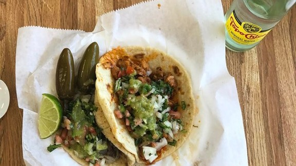 Al Pastor and Beef Cheek Tacos at Taqueria Munoz