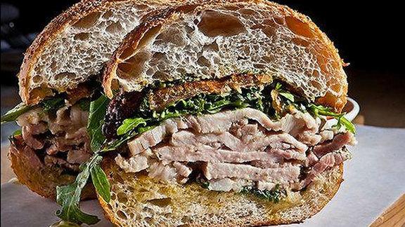 Roast porchetta panini at Il Buco Alimentari e Vineria