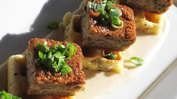 Chicken & Waffles at Euclid Hall Bar & Kitchen