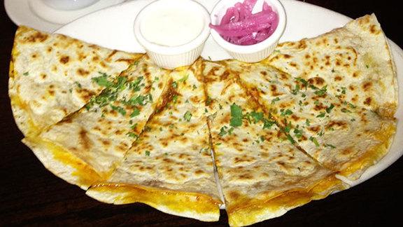 Cochinita quesadilla at La Puerta