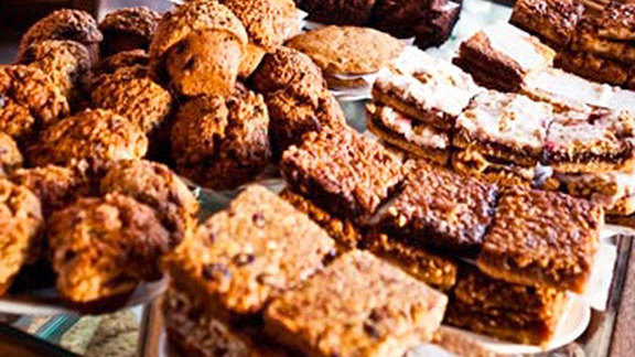 Pecan bar at Pannikin Coffee & Tea