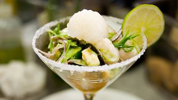 Scallop margarita at RIS