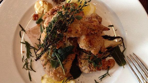 Chef Jason Berthold reviews Organic fried chicken at Wayfare Tavern