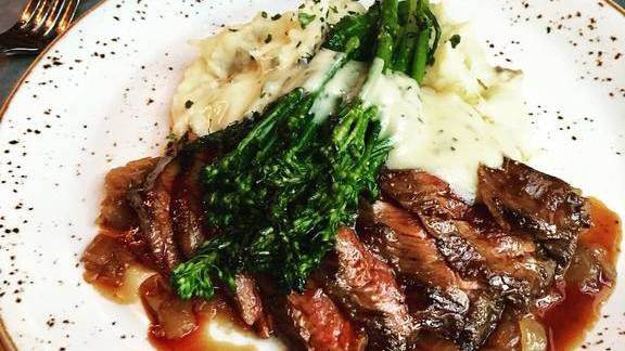 Grilled skirt steak with potatoes  at Bankers Hill Bar & Restaurant