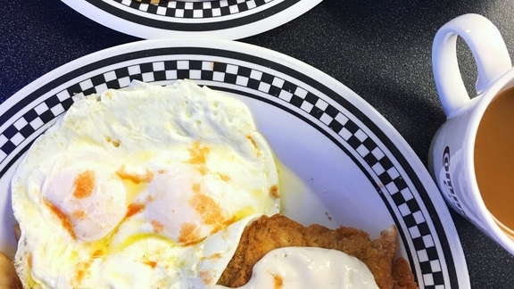Chicken Fried Steak & Eggs. at Local Diner