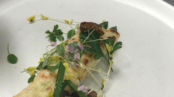 Chef Melissa Kelly reviews Spring crespelle at Primo