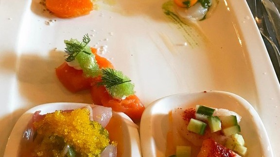 Chef Ryan McIlwraith reviews Arctic char, Scallop, Butterfish, Kampachi, Tombo at Basil